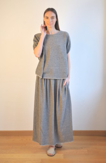 Charcoal SILE SHORT SLEEVE TOP