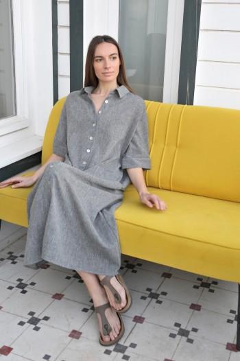 Charcoal SILE SHIRT DRESS