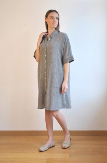 Charcoal SILE MINI SHIRT DRESS