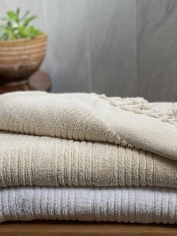 White Ottoman Terry Bath Towel
