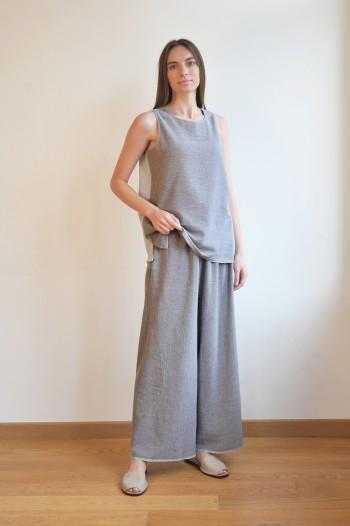 Grey SILE LOOSE PANTS