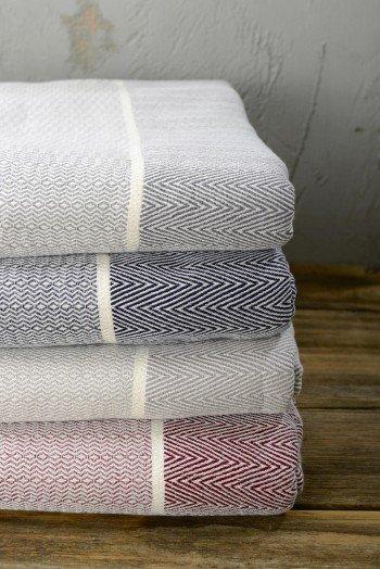 Bordeaux Herringbone Blanket/Throw