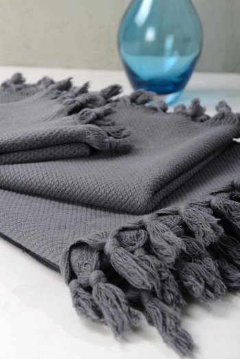 Pamukkale Hand Towel - Dark Grey