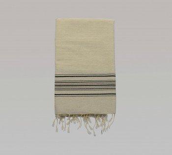 Foca Turkish Towel - Black Stripes