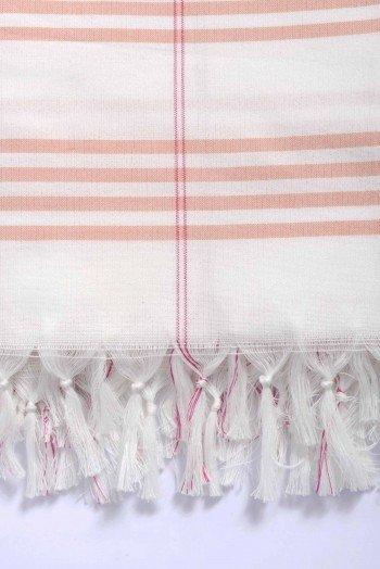 Orange Organic Cotton Turkish Towel Long