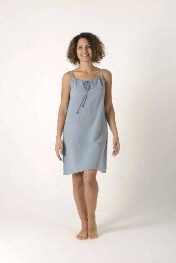 Blue Sile Slip Dress
