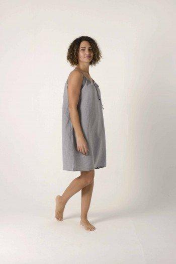 Grey Sile Slip Dress