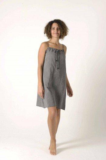 Charcoal Sile Slip Dress