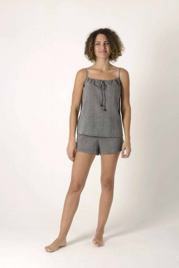 Charcoal Sile Short
