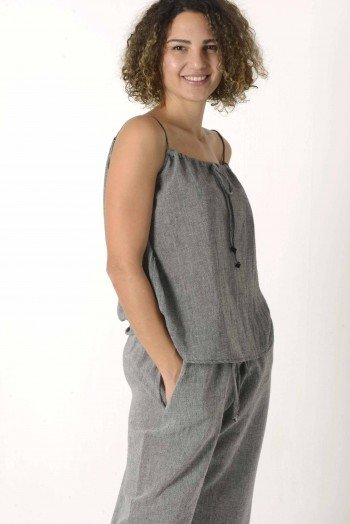 Charcoal Sile Cami