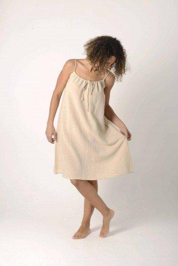 Linen Sile Slip Dress