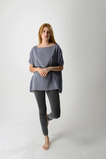 Marine SIle Boat Neck Top