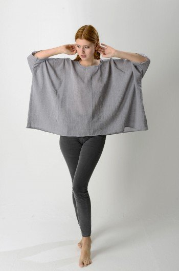 Grey Sile Top