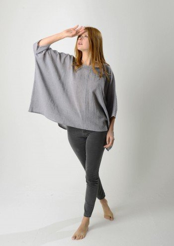 Grey Sile Top