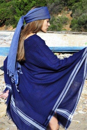 Dark Blue Cunda Poncho