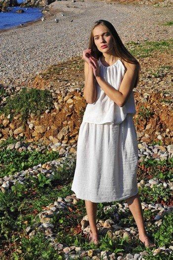 White Sile Skirt