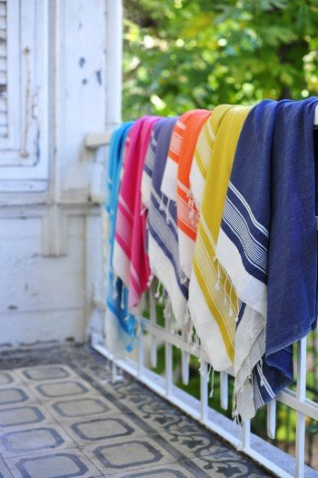 Navy Olympos Turkish Towel