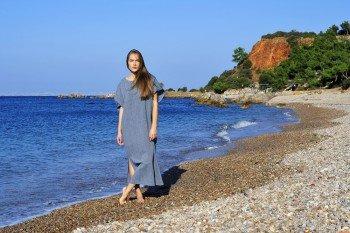Marine Sile Caftan Dress