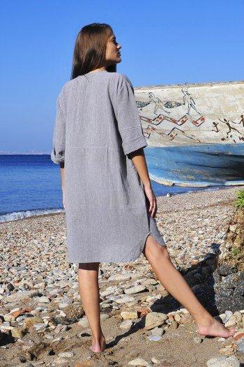 Grey Sile Tunic Dress