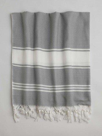 Grey-White Assos Turkish Towel
