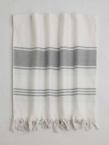 White-Grey Assos Turkish Towel