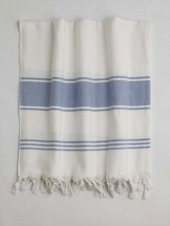 White-Blue Assos Turkish Towel