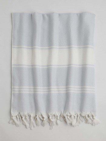 Light Blue-White Assos Turkish Towel