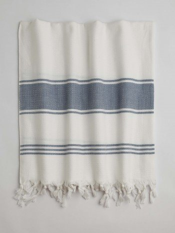 White-Jeans Blue Assos Turkish Towel