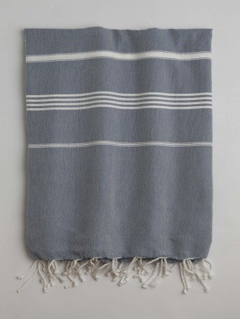Jeans Blue-White Classic Large Turkish Towel