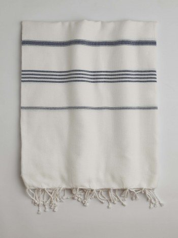 White-Marine Classic Large Turkish Towel