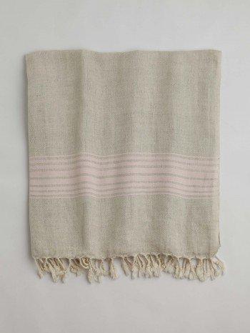 Bodrum Turkish Towel - Pink Stripes