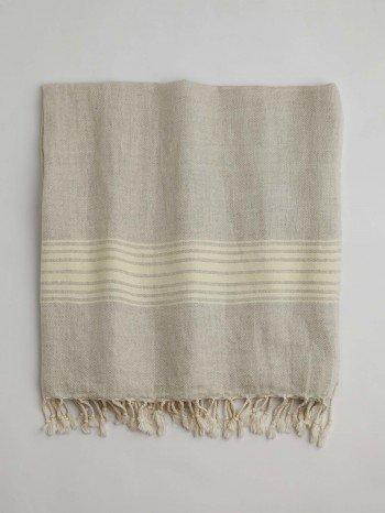 Bodrum Turkish Towel - Yellow Stripes