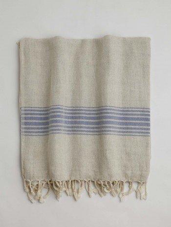 Bodrum Turkish Towel - Blue Stripes