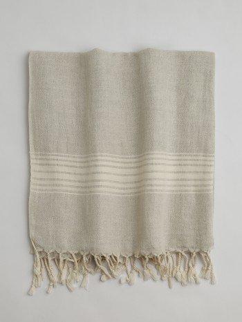 Bodrum Turkish Towel - Ecru Stripes