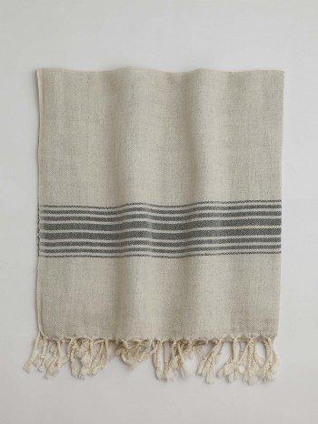 Bodrum Turkish Towel - Dark Grey Stripes