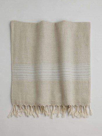 Bodrum Turkish Towel - Light Blue Stripes