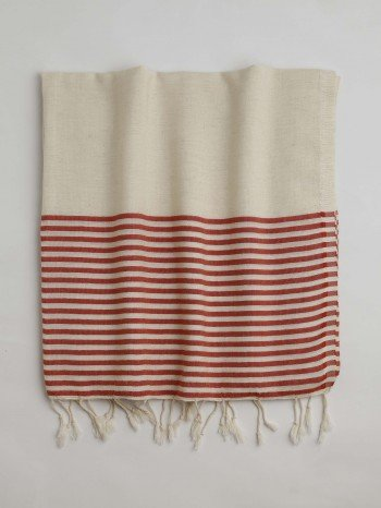 Red Knidos Turkish Towel