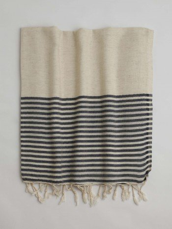 Dark Grey Knidos Turkish Towel
