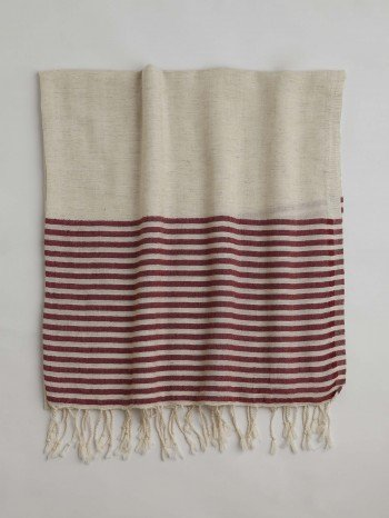 Maroon Knidos Turkish Towel