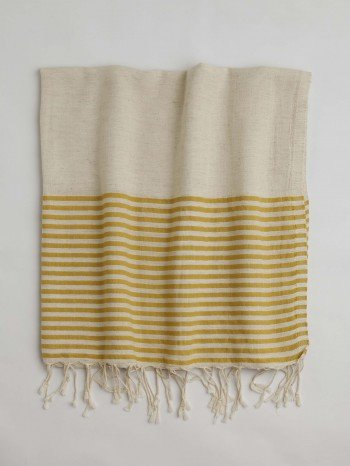 Yellow Knidos Turkish Towel
