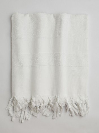 White Terry Cloth Turkish Towel