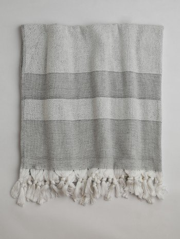 Dark Grey Terry Cloth Turkish Towel