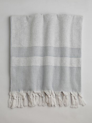 Blue Terry Cloth Turkish Towel