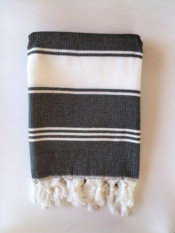 Black-White Assos Turkish Towel