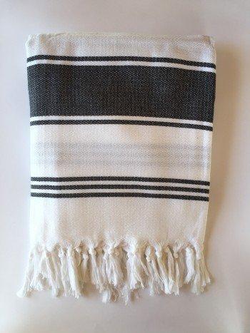 White-Black Assos Turkish Towel