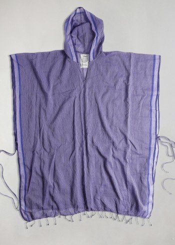 Purple Ayvalık Hooded Beach Poncho