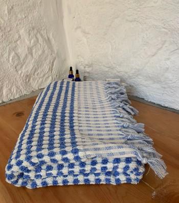 Marine Dotted Terry Bath Towel