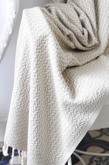 Beige Double Sided Throw