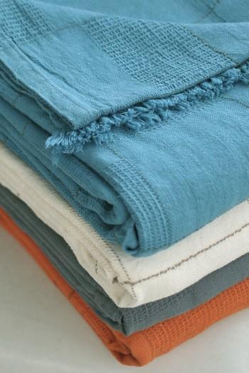 Orange Linen Blanket