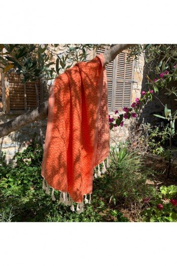 Orange Deniz Hand Towel/Tea Towel